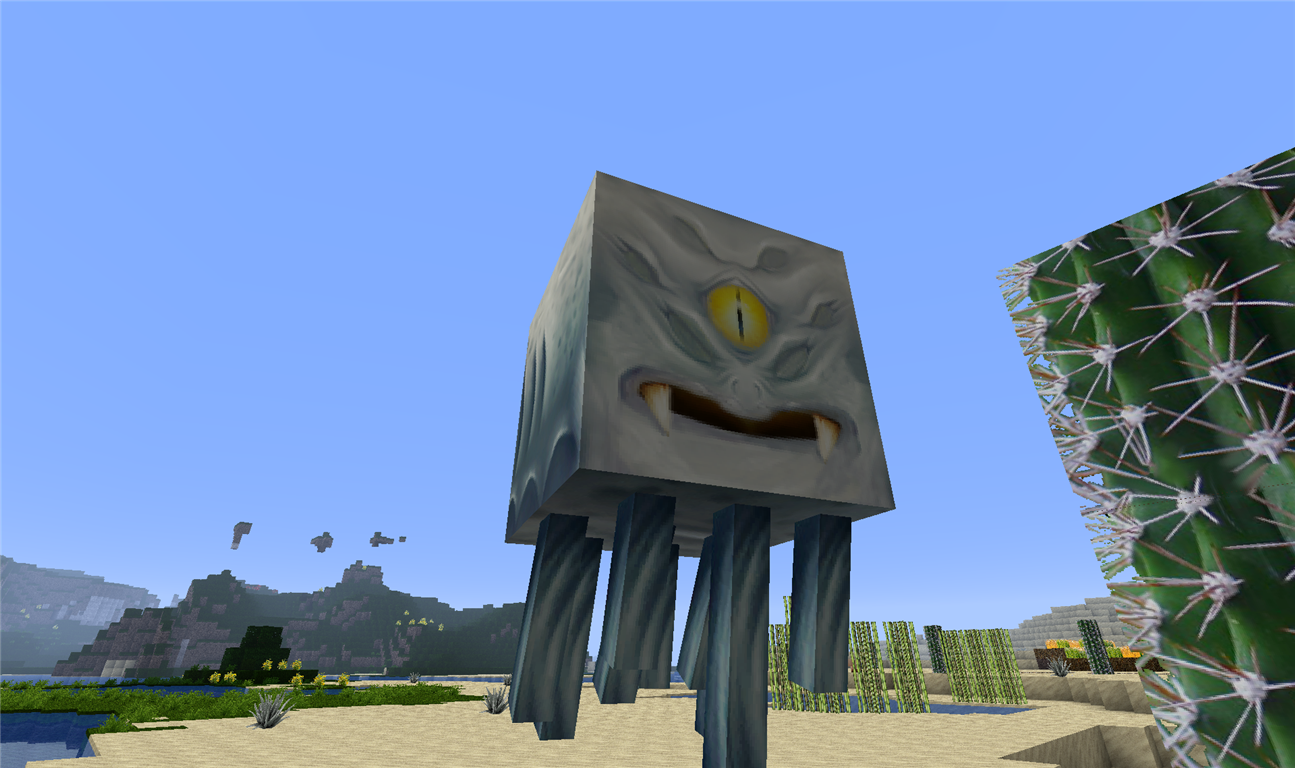 My Texture Pack Has Some Really Really Creepy Ghasts