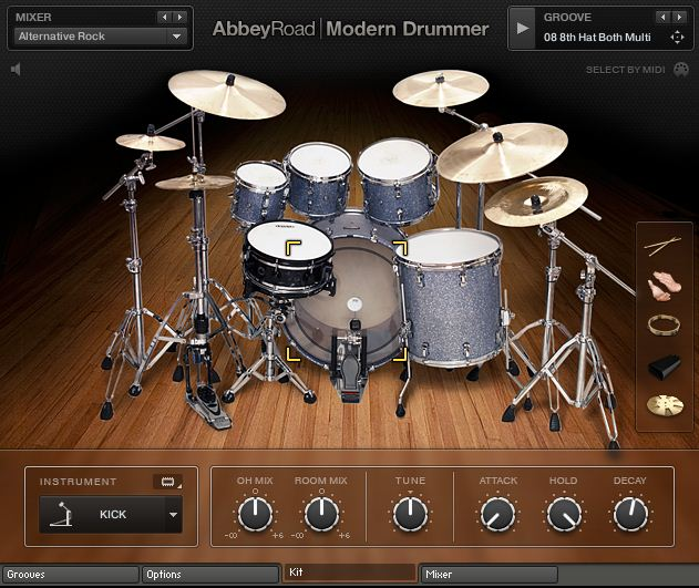 [dead] UPDATE for converting old NI Abbey Road Modern Drums library - KONTAKT screenshot