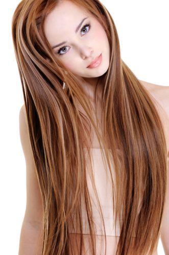 Haare von hellbraun auf rot farben