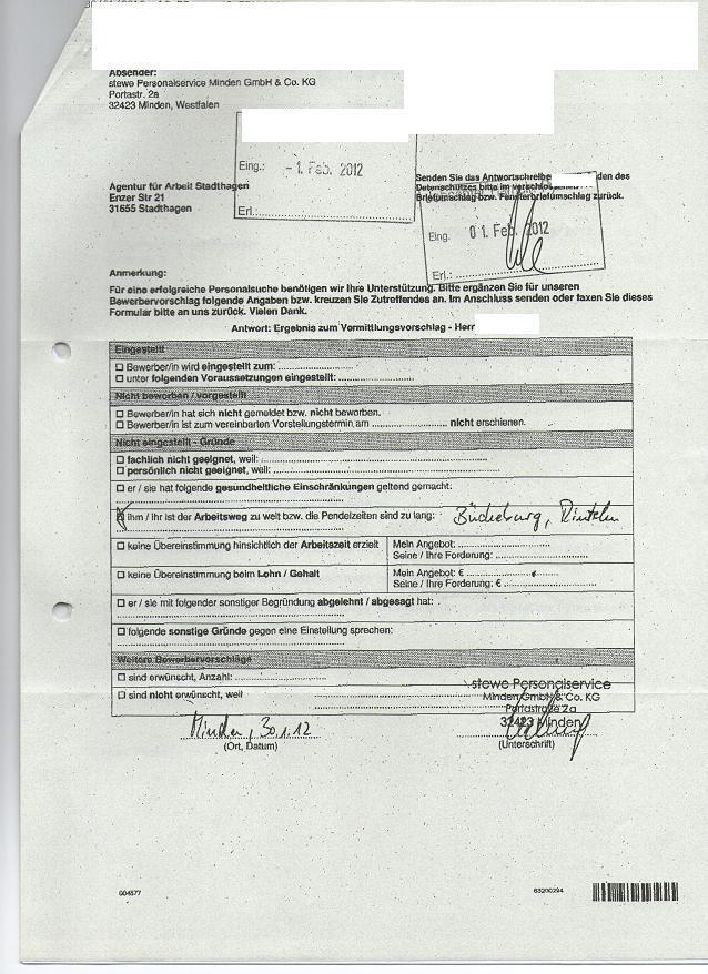 unterschriebener vertrag kommt nicht zurück