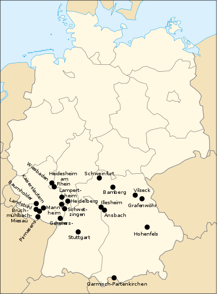 Map Us Military Installations In Germany - Map of us military bases in usa